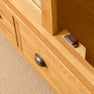 Door latch of Roseland Oak Triple Wardrobe & Drawers