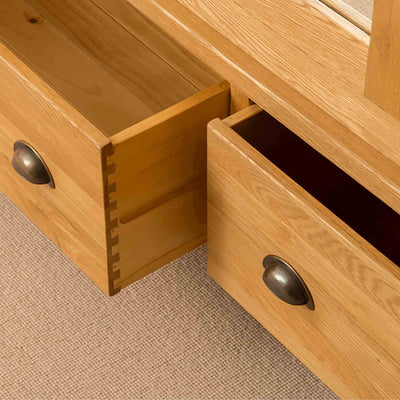 Drawers of Roseland Oak Triple Wardrobe & Drawers