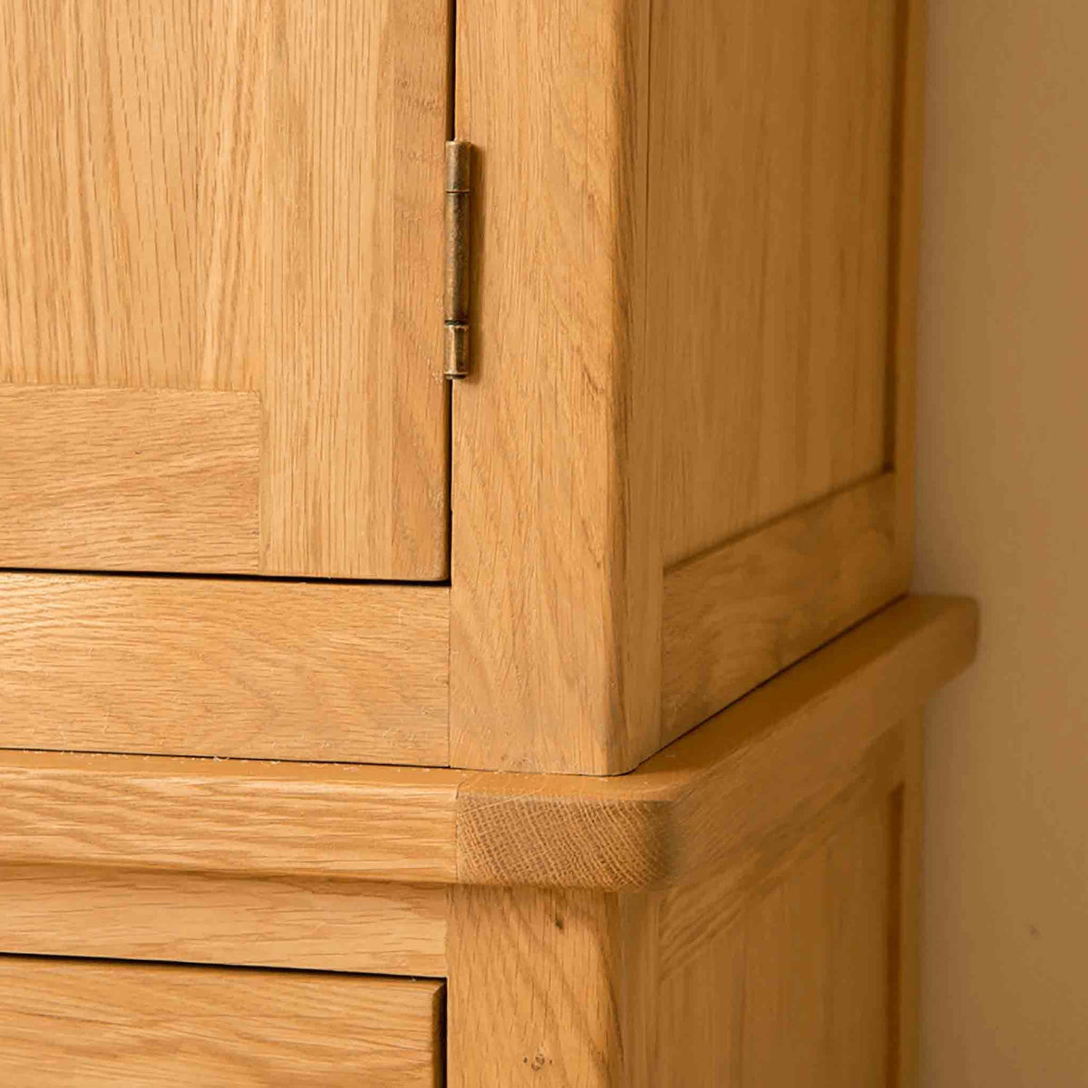 Corner of Roseland Oak Triple Wardrobe & Drawers