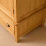 Base of Roseland Oak Triple Wardrobe & Drawers