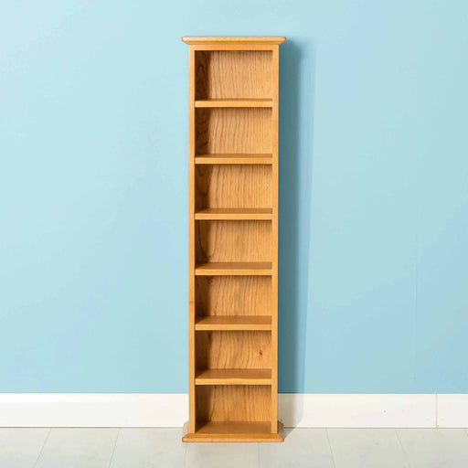 Nordic Oak Double CD Tower by Roseland Furniture