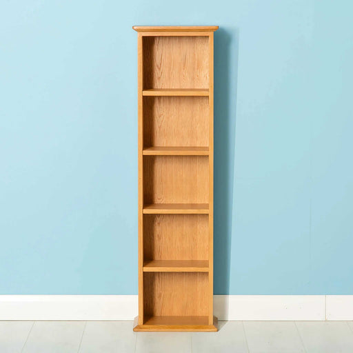 Nordic Oak Double DVD Tower by Roseland Furniture
