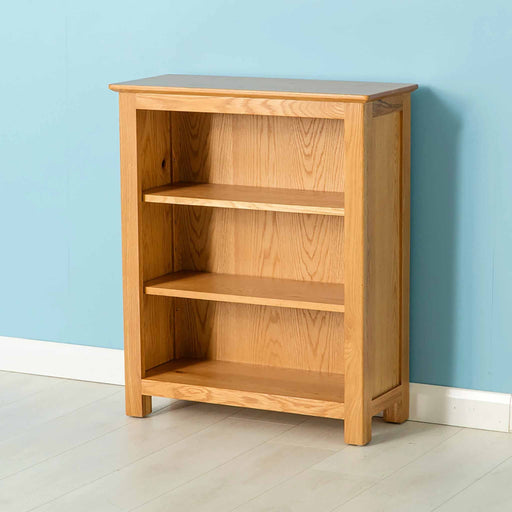 Nordic Oak Low Bookcase by Roseland Furniture