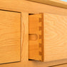 Nordic Oak 3 Door 3 Drawer Sideboard