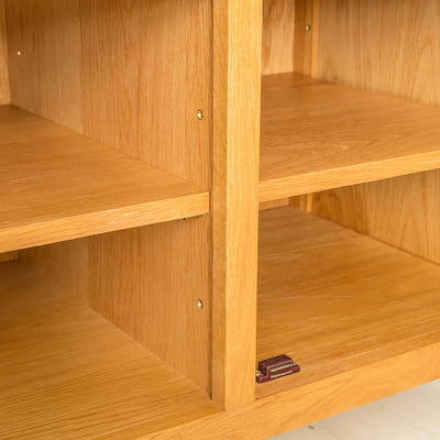 Shelves Nordic Oak Plasma TV Cabinet