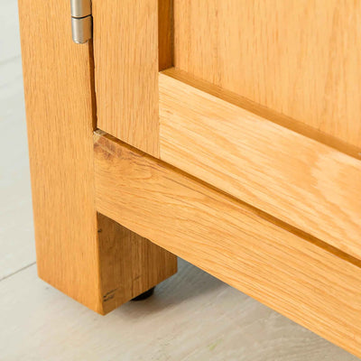 Leg of Nordic Oak 97cm TV Cabinet