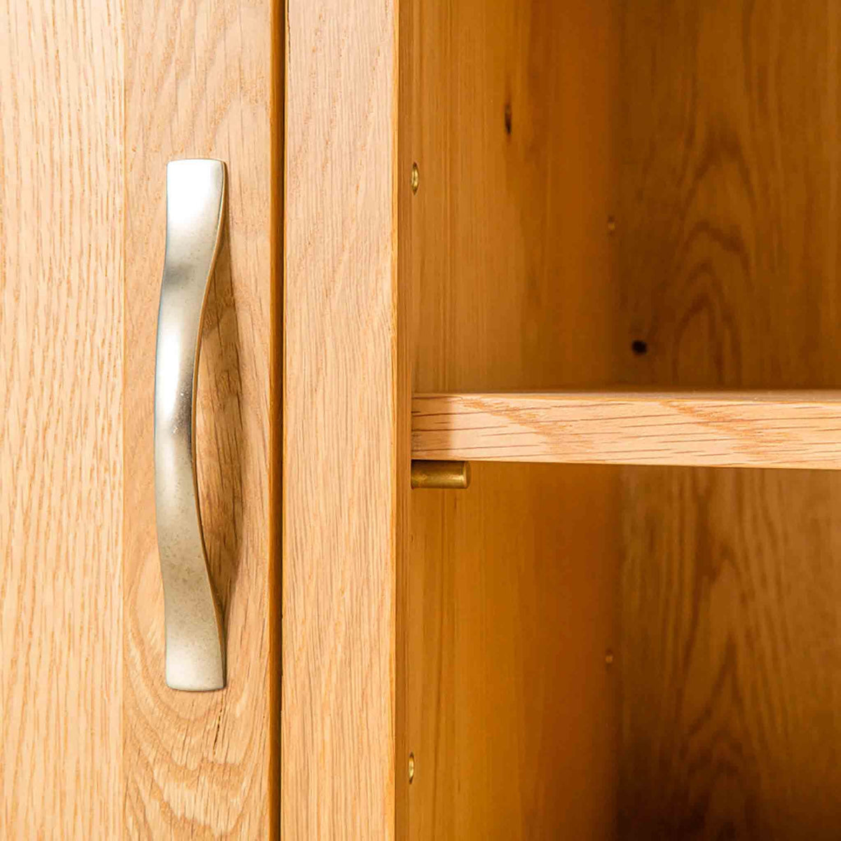 Door handle of Nordic Oak 97cm TV Cabinet