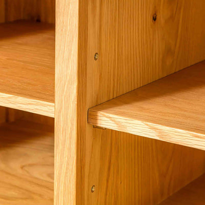 Shelves of Nordic Oak 97cm TV Cabinet