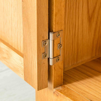 Hinge of Nordic Oak 97cm TV Cabinet