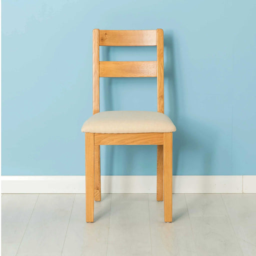 Nordic Oak Low Back Dining Chair by Roseland Furniture