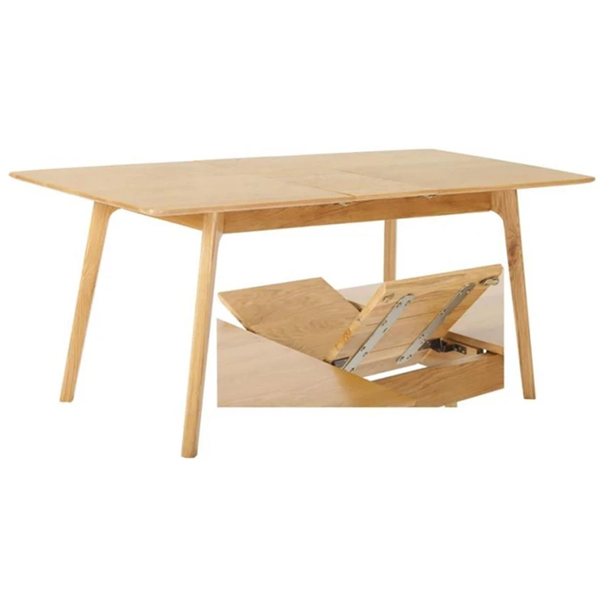 Nordic Oak Extending Table 130cm -160cm by Roseland Furniture