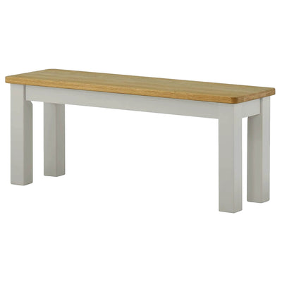 The Padstow Grey Wooden Dining Bench