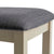 Padstow Stone Grey Dining Chair with Padded Seat - Close up of padded seat
