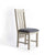 Padstow Stone Grey Dining Chair with Padded Seat