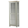 The Padstow Grey Wooden Display Cabinet with Glass from Roseland Furniture