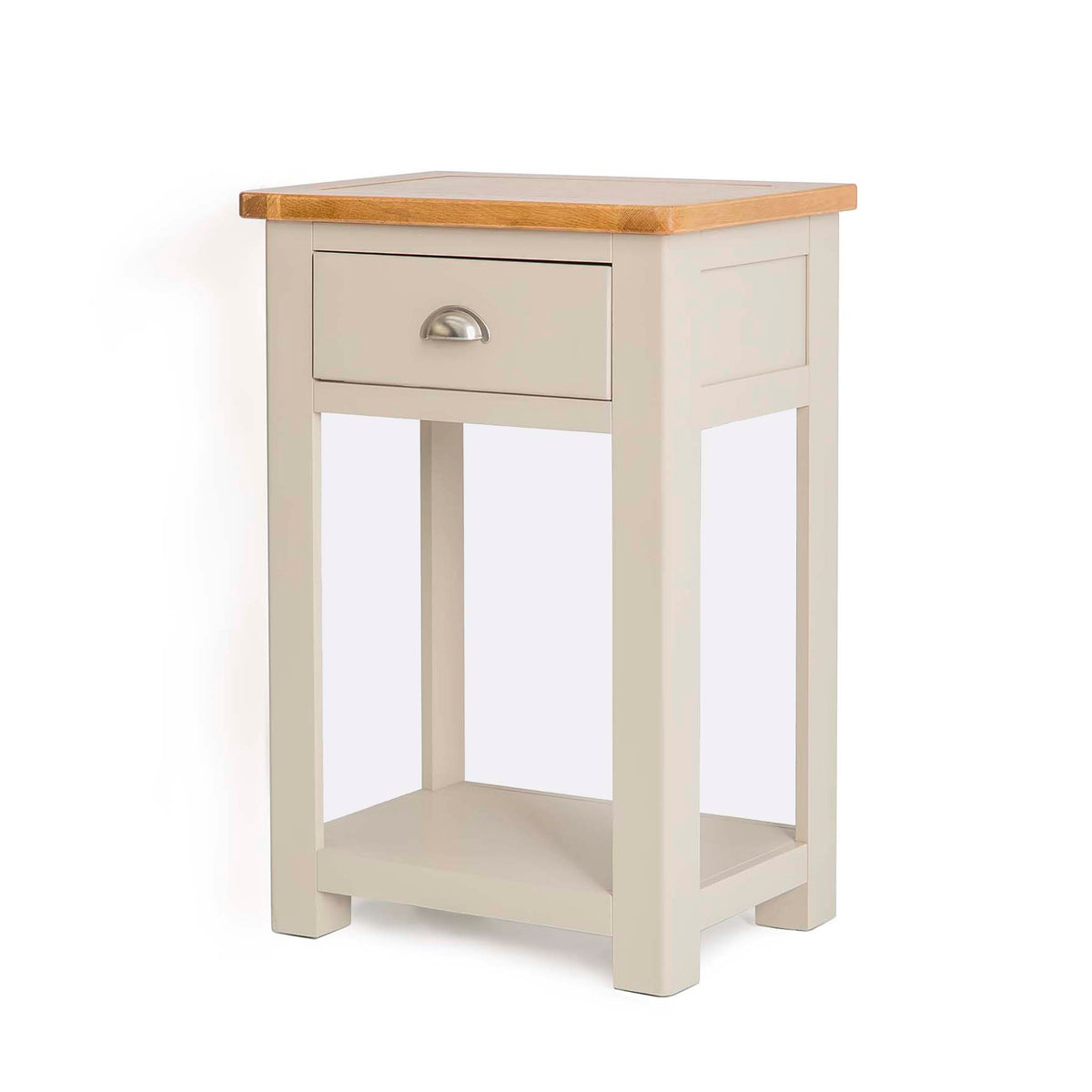 The Padstow Grey Small Hall Telephone Table from Roseland Furniture