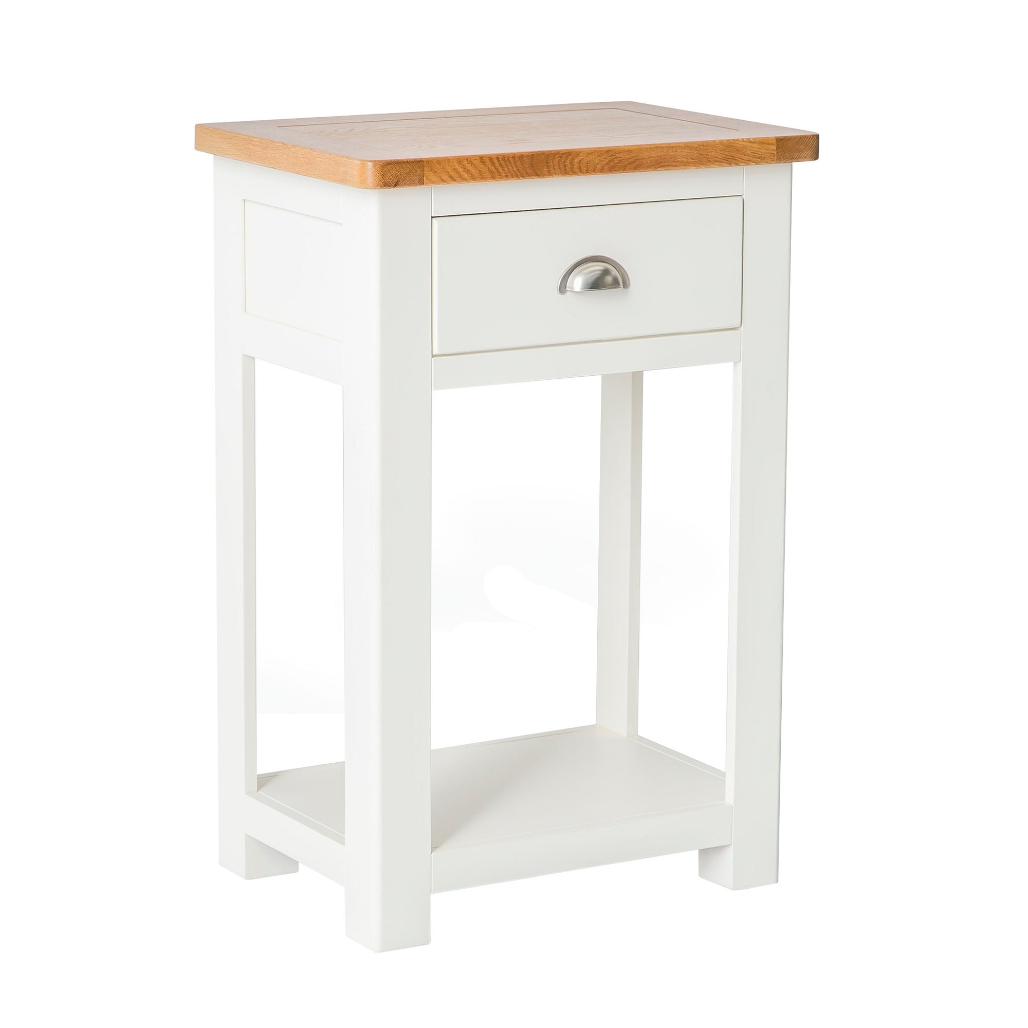 The Padstow White Hallway Telephone Table with Drawer
