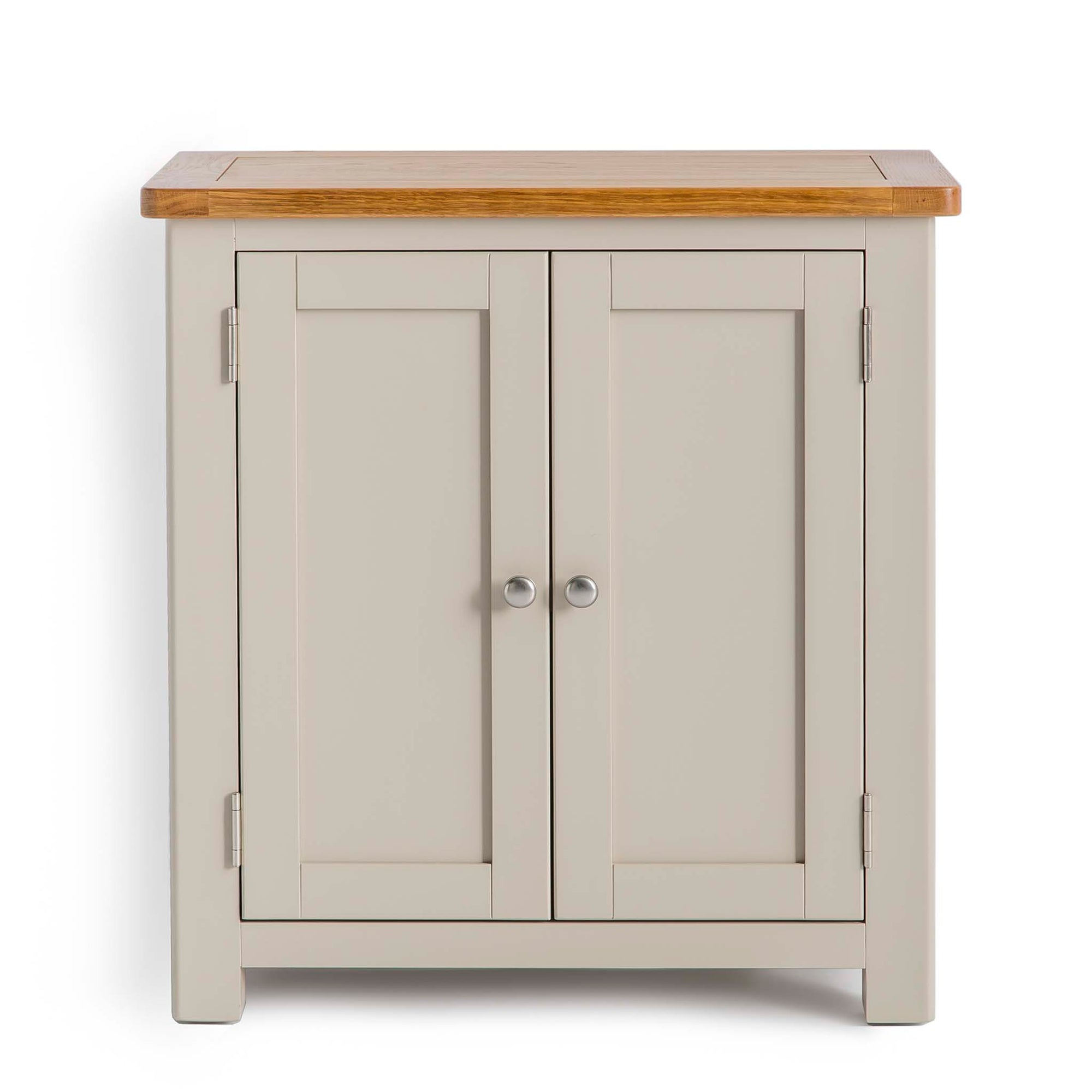 Padstow Stone Grey Small Storage Cupboard Cabinet by Roseland Furniture
