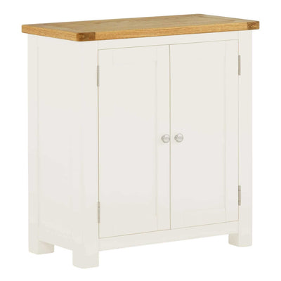 The Padstow White 2 Door Cupboard Cabinet from Roseland Furniture