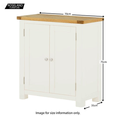 Padstow White Small Storage Cupboard - Size Guide