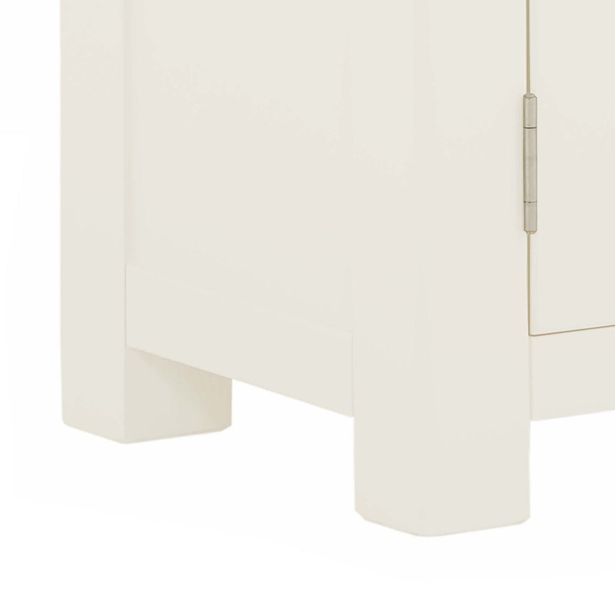 The Padstow White 2 Door Cupboard Cabinet - Close Up of Feet