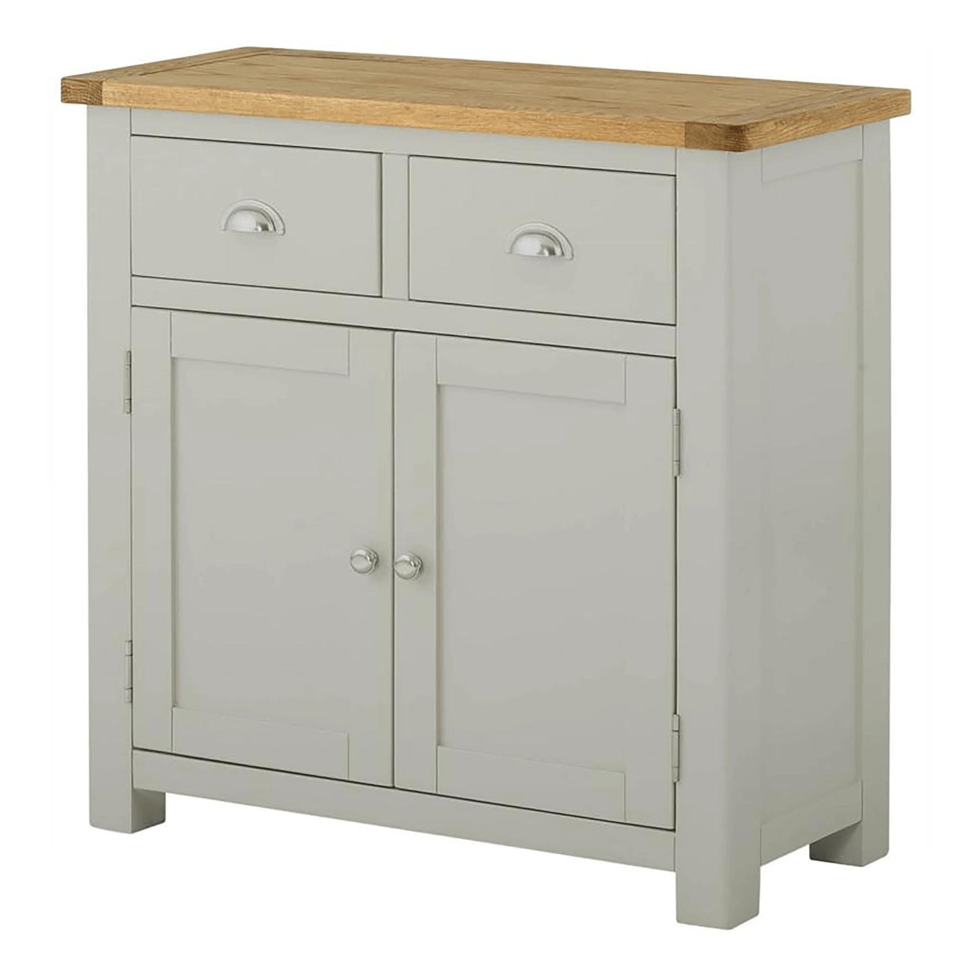 The Padstow Grey Small 2 Door Sideboard from Roseland Furniture