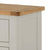 The Padstow Grey Small Sideboard - Close Up of Oak Top