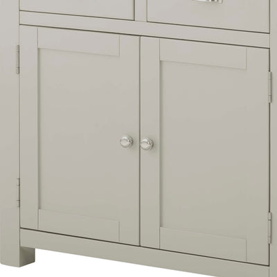 The Padstow Grey Small Sideboard - Close Up of Cupboard Doors