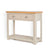 The Padstow Stone Grey Wooden Console Table - Side view