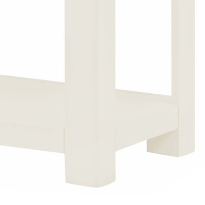 The Padstow White Hallway Console Table - Close Up of Feet