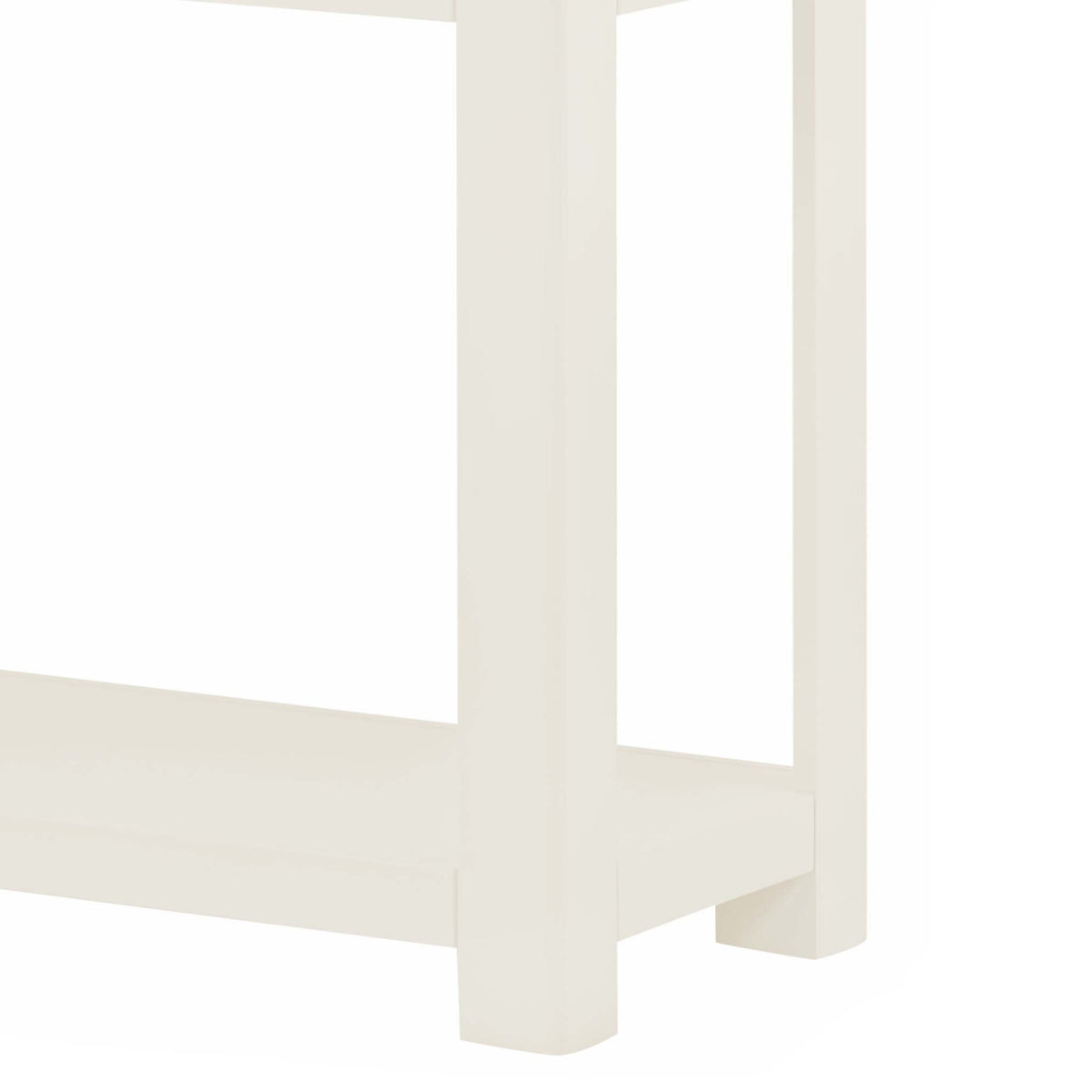 The Padstow White Hallway Console Table - Close Up of  Legs
