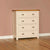 The Padstow Cream Solid Wood Chest of 5 Drawers from Roseland Furniture