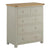 The Padstow Grey Wooden Chest of 5 Drawers with Oak Top