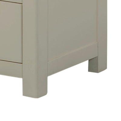 The Padstow Grey 2 Over 3 Chest of Drawers - Close Up of Chest Feet