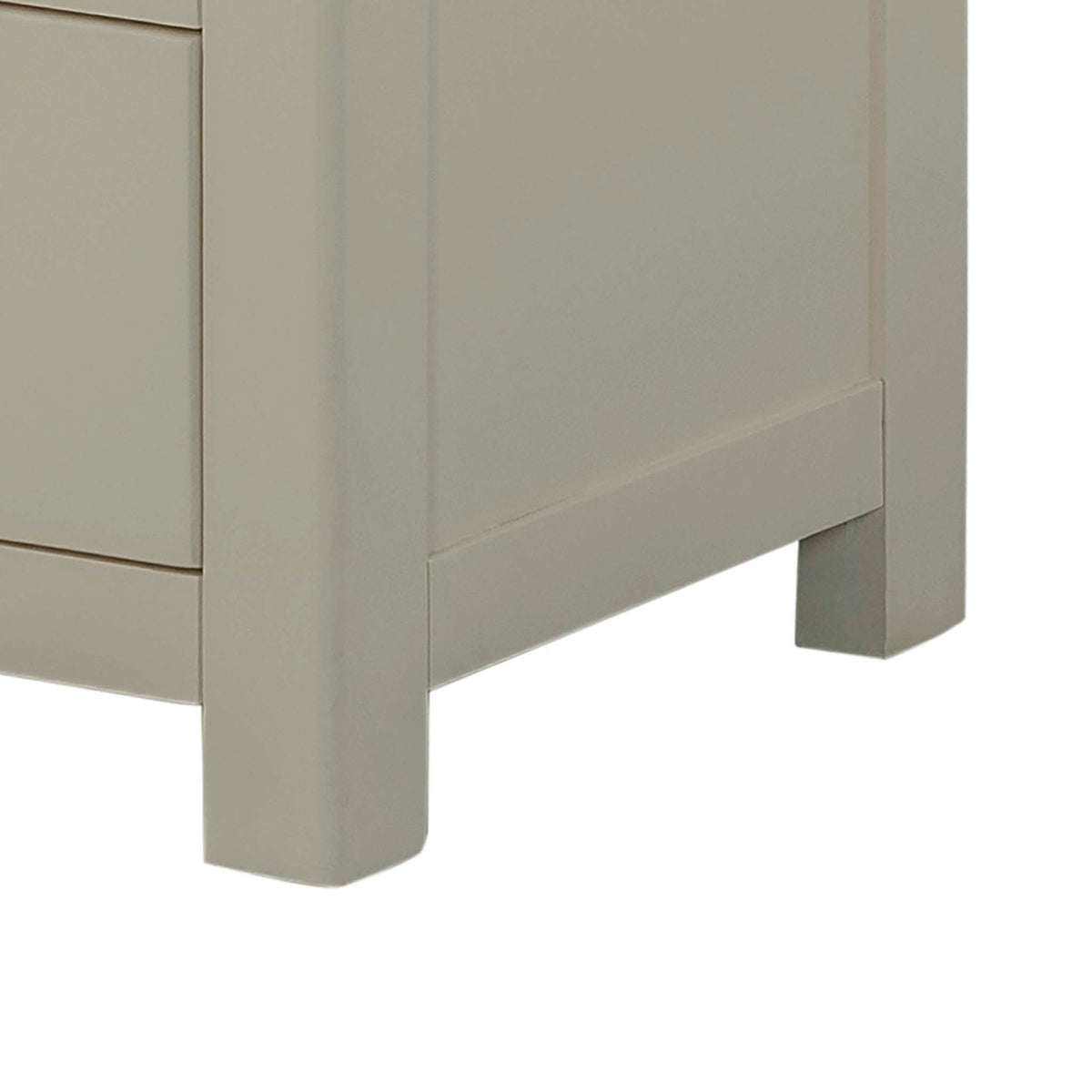 The Padstow Grey 2 Over 4 Chest of Drawers - Close Up of Chest Feet