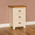 The Padstow Cream Oak Top Bedside Table with Storage from Roseland Furniture
