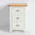 front view of the The Padstow White Wooden Bedside Table with 3 Drawers