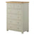 The Padstow Grey Large Chest of Drawers 2 over 4 from Roseland Furniture