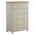 The Padstow Grey Large Chest of 6 Drawers from Roseland Furniture