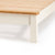 Close up of wooden base on The Padstow Cream 4 ft 6 Wooden Double Bed Frame
