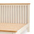 Close up of wooden slats on The Padstow Cream 4 ft 6 Wooden Double Bed Frame