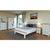 Decorative bedroom image with the Padstow Grey Wooden Bed Frame
