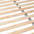 Padstow Stone Grey Double Bed Frame - Close up of bed slats of base