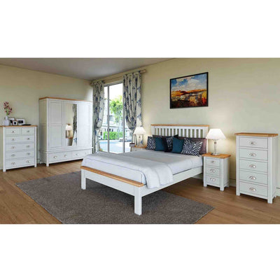 Decorative bedroom image with Padstow Grey Wooden Bed Frame