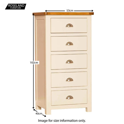 Padstow Cream Tallboy - Size Guide
