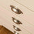 Close up of the drawers on The Padstow Cream Wooden Tallboy Chest of Drawers