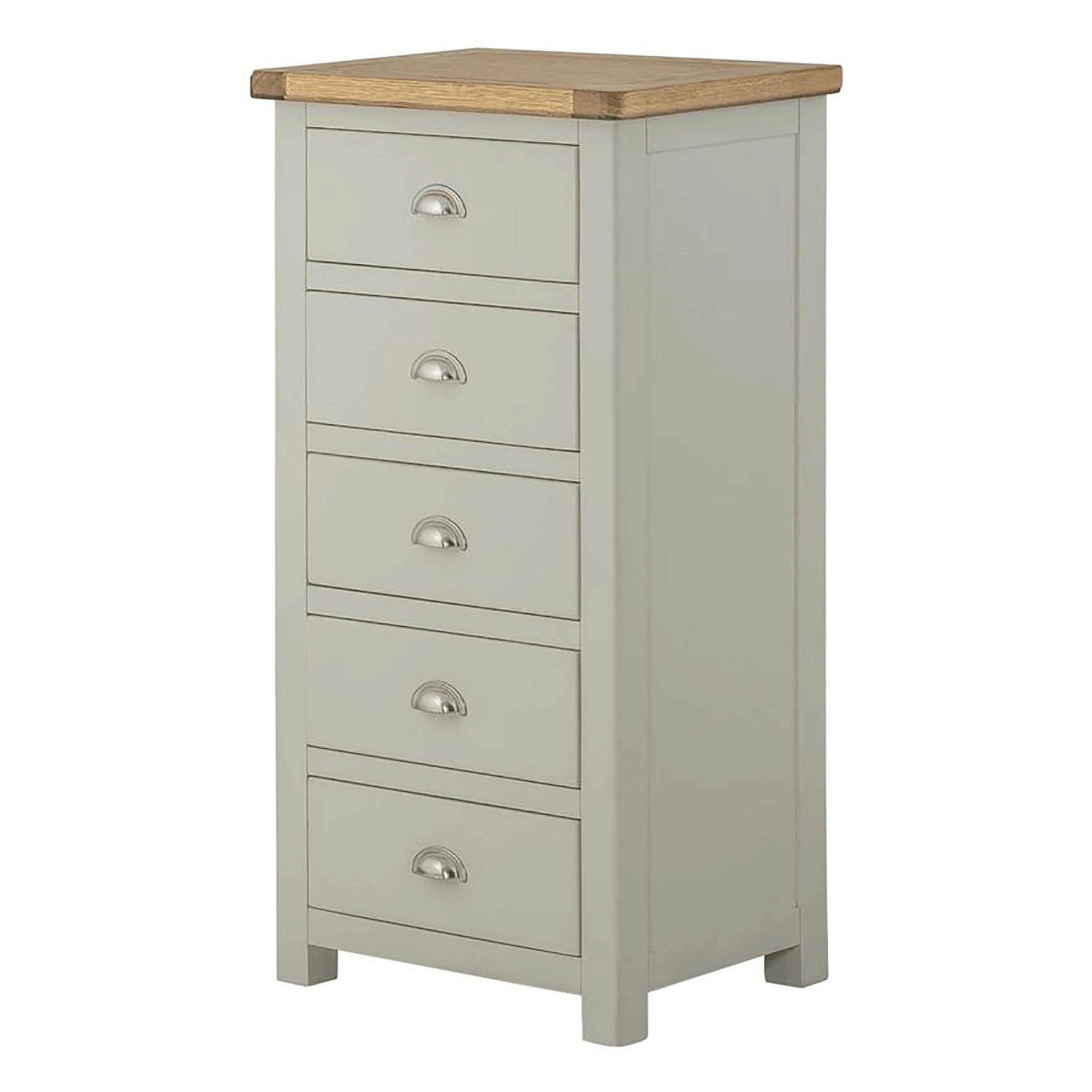 The Padstow Grey Tall Chest of Drawers from Roseland Furniture