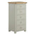 The Padstow Grey Tallboy Chest of Bedroom Drawers from Roseland Furniture
