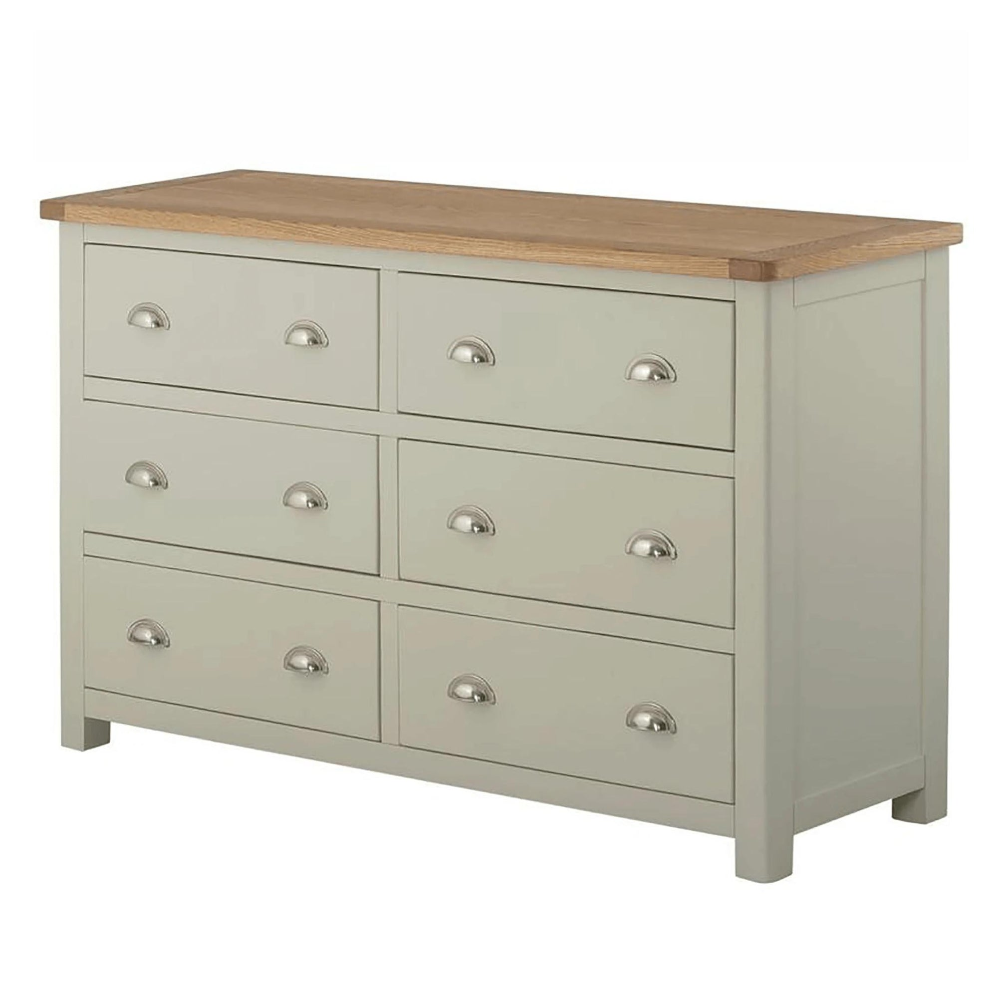 The Padstow Grey Wooden Chest of Drawers from Roseland Furniture