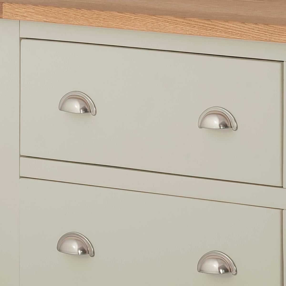 The Padstow Grey Large Six Drawer Chest of Drawers - Close Up of Drawer